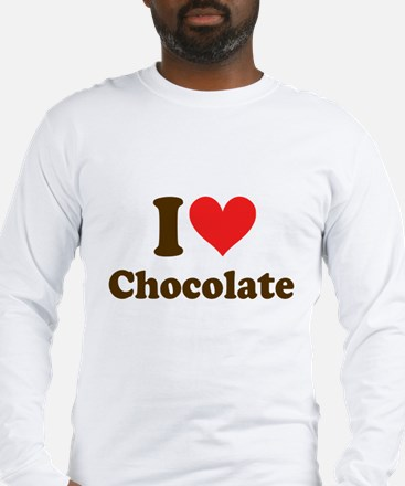 I Heart Chocolate: Long Sleeve T-Shirt