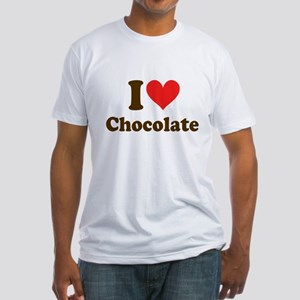 I Heart Chocolate: Fitted T-Shirt