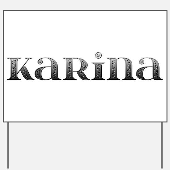 Karina Carved Metal Yard Sign