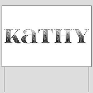 Kathy Carved Metal Yard Sign