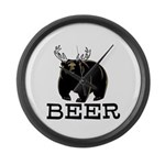Beer Large Wall Clock