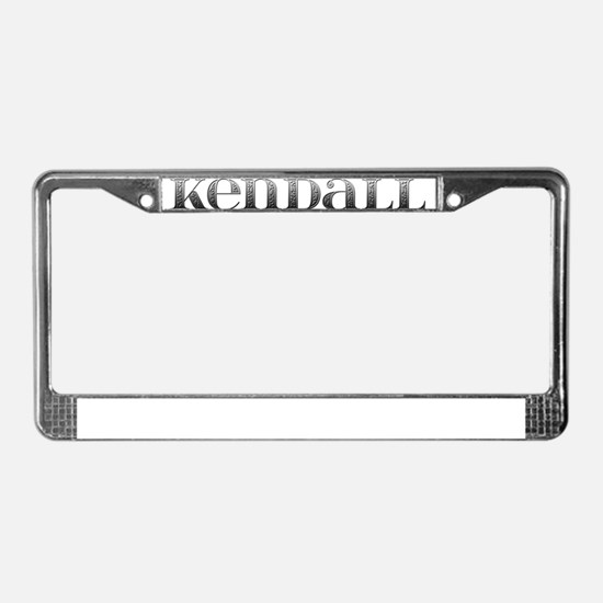 Kendall Carved Metal License Plate Frame