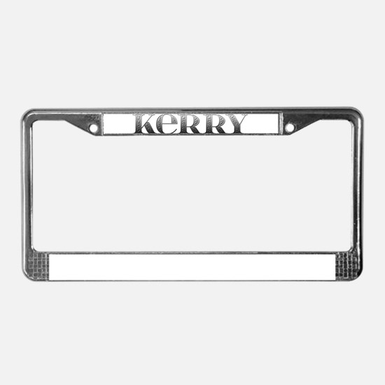 Kerry Carved Metal License Plate Frame