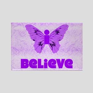 iBelieve - Purple Rectangle Magnet