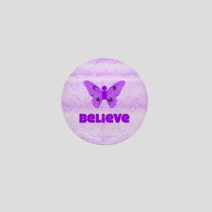 iBelieve - Purple Mini Button