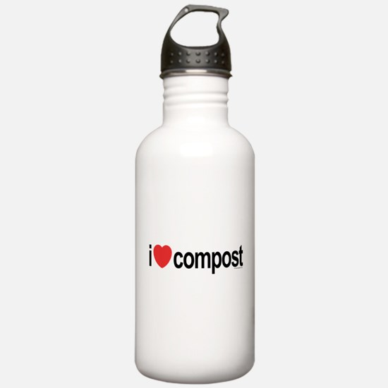 I Love Compost Water Bottle