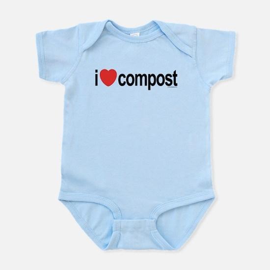 I Love Compost Infant Bodysuit