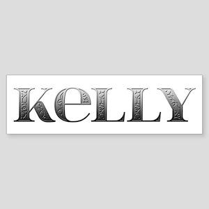 Kelly Carved Metal Bumper Sticker