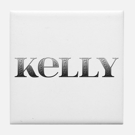 Kelly Carved Metal Tile Coaster