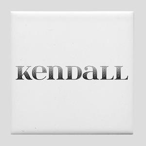 Kendall Carved Metal Tile Coaster