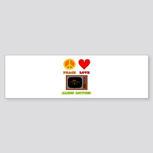 Peace Love Alien Movies Sticker (Bumper)
