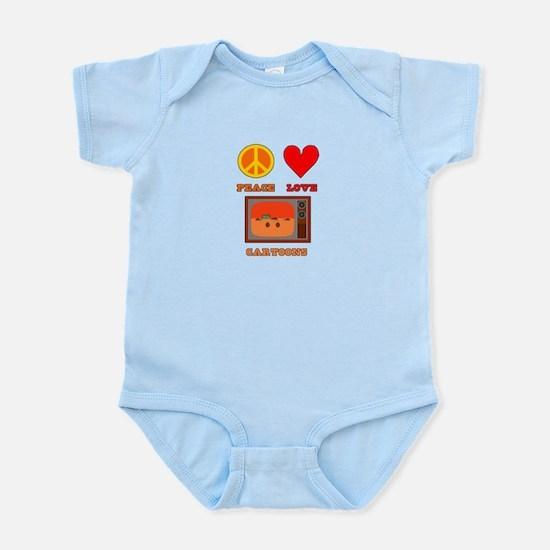 Peace Love Cartoons Infant Bodysuit
