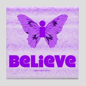 iBelieve - Purple Tile Coaster