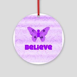 iBelieve - Purple Ornament (Round)