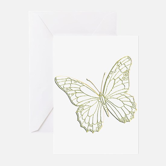 Embossed Butterfly Greeting Cards (Pk of 10)