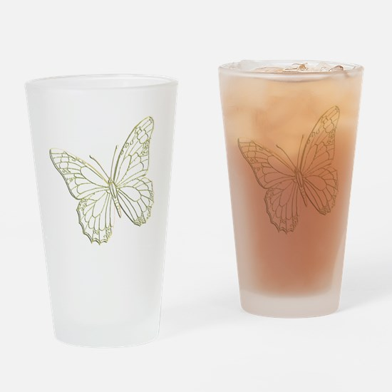 Embossed Butterfly Drinking Glass