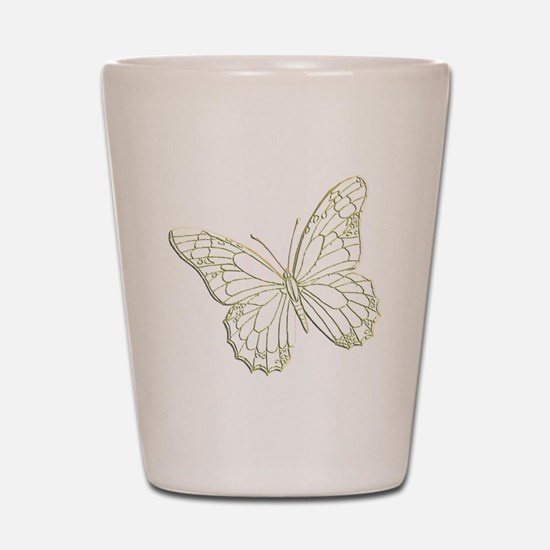 Embossed Butterfly Shot Glass
