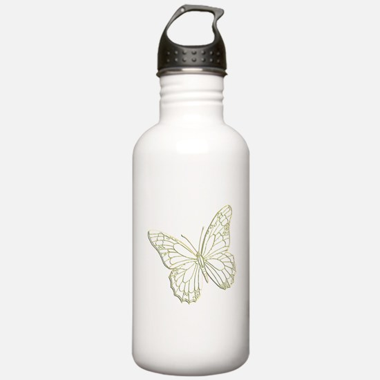 Embossed Butterfly Water Bottle