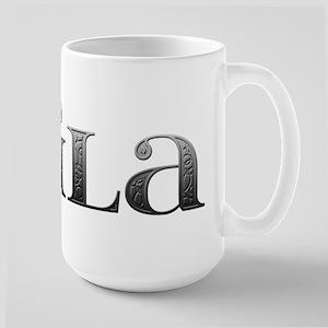Laila Carved Metal Large Mug