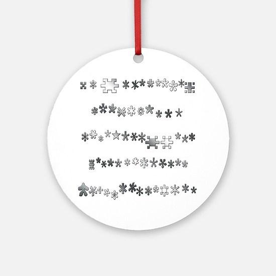 Asterisks Ornament (Round)