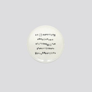 Asterisks Mini Button
