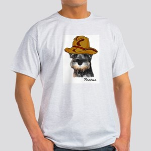 Mini Schnauzer Festus Ash Grey T-Shirt