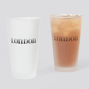 London Carved Metal Drinking Glass