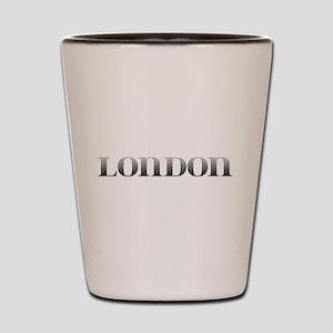 London Carved Metal Shot Glass