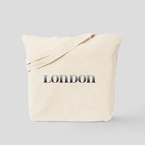 London Carved Metal Tote Bag