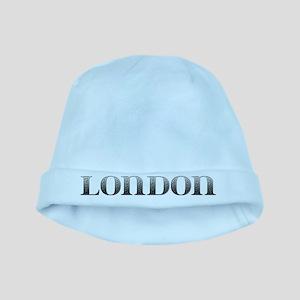 London Carved Metal baby hat