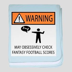 Checks Fantasy Football Scores baby blanket