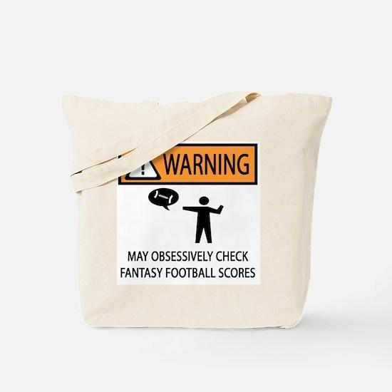Checks Fantasy Football Scores Tote Bag