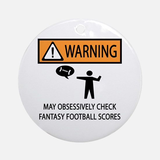 Checks Fantasy Football Scores Ornament (Round)