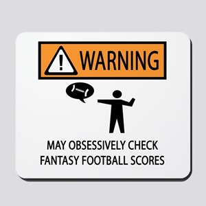 Checks Fantasy Football Scores Mousepad