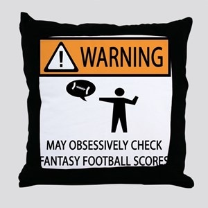Checks Fantasy Football Scores Throw Pillow