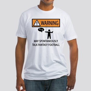 Talks About Fantasy Football Fitted T-Shirt