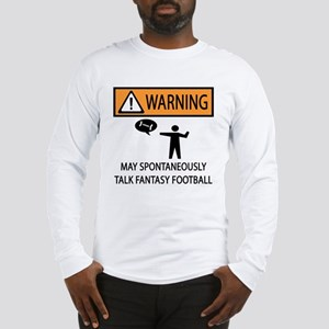 Talks About Fantasy Football Long Sleeve T-Shirt
