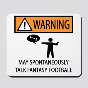 Talks About Fantasy Football Mousepad