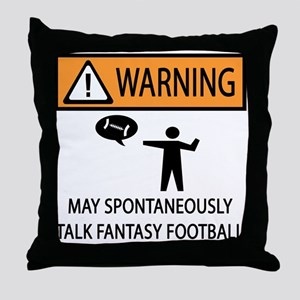 Talks About Fantasy Football Throw Pillow