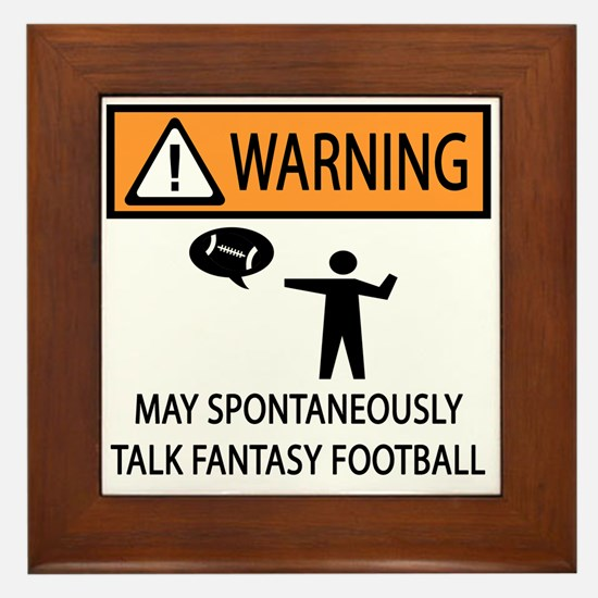 Talks About Fantasy Football Framed Tile