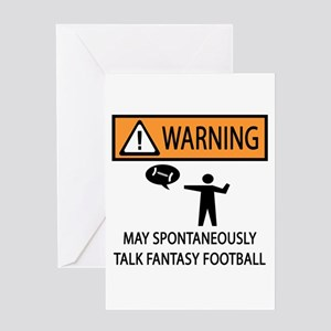 Talks About Fantasy Football Greeting Card