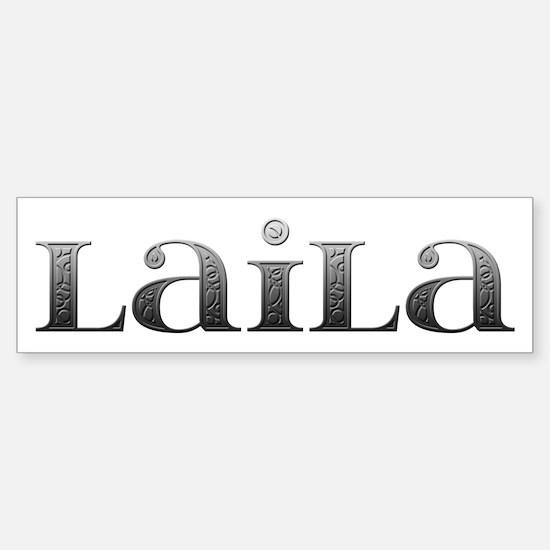 Laila Carved Metal Bumper Bumper Bumper Sticker