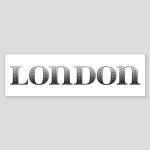 London Carved Metal Bumper Sticker