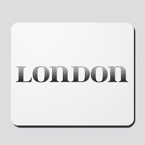 London Carved Metal Mousepad