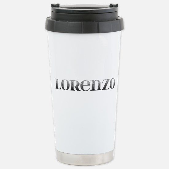 Lorenzo Carved Metal Stainless Steel Travel Mug