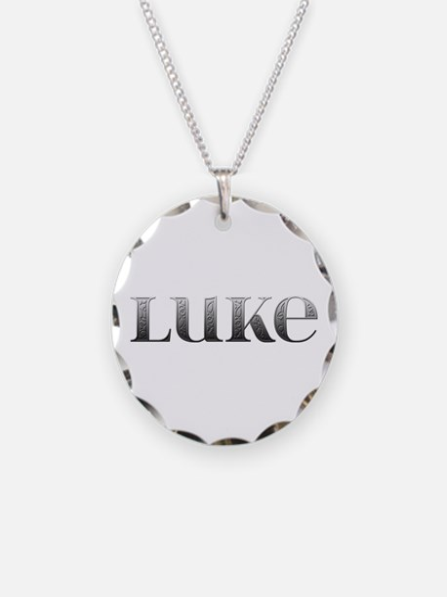 Luke Carved Metal Necklace
