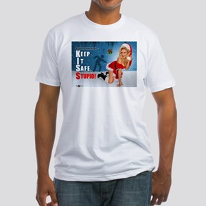 Safety Geeks Christmas Fitted T-Shirt