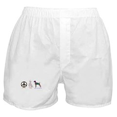 Peace, Love, Weimaraners Boxer Shorts