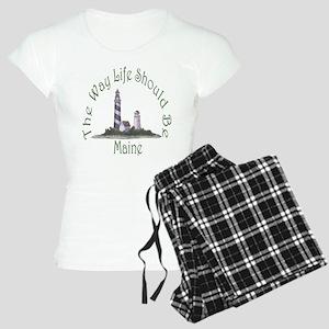 Maine State Motto Women's Light Pajamas