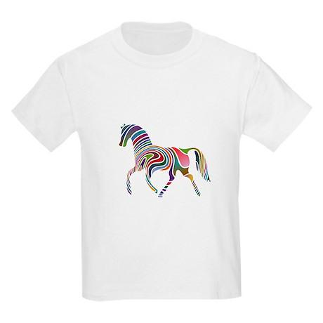 Horse Of Many Colors Kids Light T-Shirt